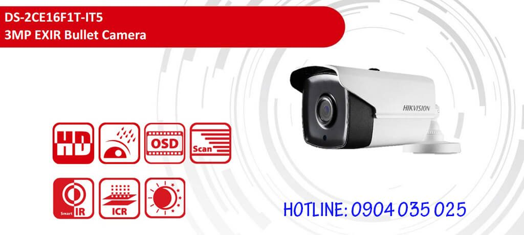 Camera HDTVI HIKVISION DS-2CE16F1T-IT5